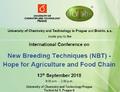 Program konference o nových technikách šlechtění